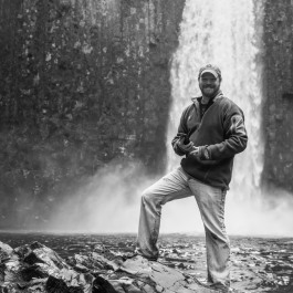 Daniel Hedrick at Abiqua Falls in Oregon