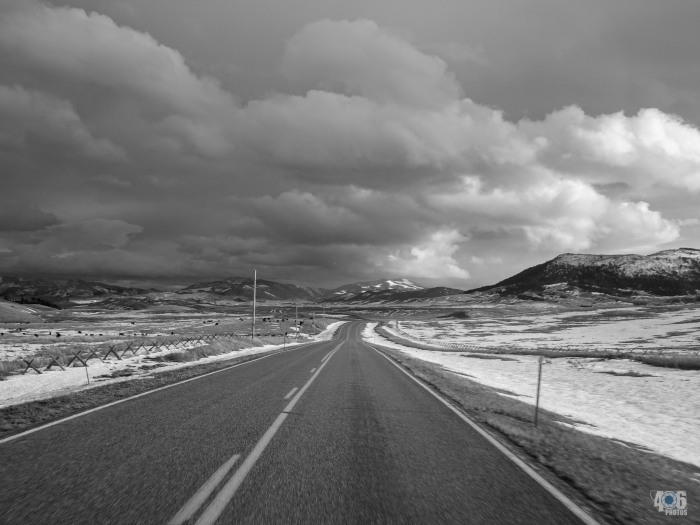 A lonely but beautiful Montana highway.